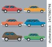 car icon vector logo template.... | Shutterstock .eps vector #1417580798