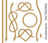 vector set of ropes  realistic... | Shutterstock .eps vector #1417603502