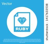 blue ruby file document icon.... | Shutterstock .eps vector #1417633538
