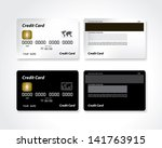 black and white blank credit... | Shutterstock .eps vector #141763915