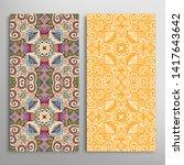 vertical seamless patterns set  ... | Shutterstock .eps vector #1417643642