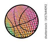 colorful basketball icon design ...   Shutterstock .eps vector #1417644092