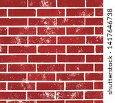classic red brick wall vector...   Shutterstock .eps vector #1417646738