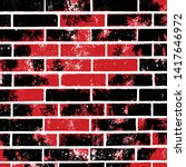 red and black brick wall vector ...   Shutterstock .eps vector #1417646972