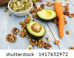healthy food and dieting... | Shutterstock . vector #1417652972