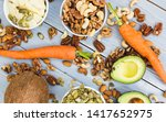 healthy food and dieting... | Shutterstock . vector #1417652975