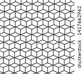 black and white 3d cube pattern ... | Shutterstock .eps vector #1417662962