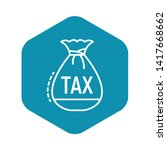 tax money bag icon. outline tax ...