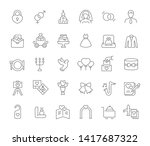 set of vector line icons of... | Shutterstock .eps vector #1417687322