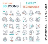 set of vector line icons of... | Shutterstock .eps vector #1417687385