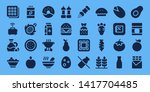 nutrition icon set. 32 filled... | Shutterstock .eps vector #1417704485