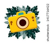 summer camera photographic and...   Shutterstock .eps vector #1417716422