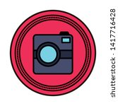 photographic camera device...   Shutterstock .eps vector #1417716428