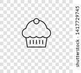 muffin icon from food... | Shutterstock .eps vector #1417729745