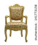 Old Vintage Gold Chair