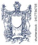 medieval vintage heraldry.... | Shutterstock .eps vector #1417736735