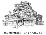 seven wonders of the ancient... | Shutterstock .eps vector #1417736768