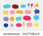 set of speech bubbles pop art...