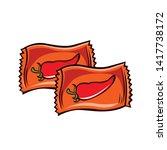vector cartoon hot chlli... | Shutterstock .eps vector #1417738172