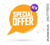 special offer  sale banner... | Shutterstock .eps vector #1417775072