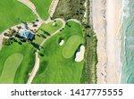 Golf Course On Beach   Aerial...