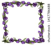 Frame With Colored Purple...