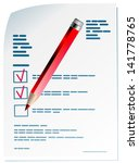 pencil paper | Shutterstock .eps vector #141778765