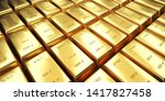 Stock photo  d rendering of one kilo gold bars gold bullion bars are organized in an orderly manner on black 1417827458