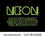 vector of stylized modern font... | Shutterstock .eps vector #1417831838