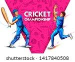 illustration of batsman and... | Shutterstock .eps vector #1417840508