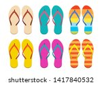 Flip Flops Set Vector Design...