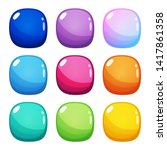 set of nine colorful rounded...