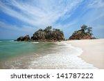 Dawn view of sand beach in East Coast Malaysia