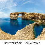 azure window  famous stone arch ... | Shutterstock . vector #141789496