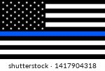 usa flag with a thin blue line  ... | Shutterstock .eps vector #1417904318