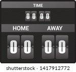 scoreboard vector score board... | Shutterstock .eps vector #1417912772