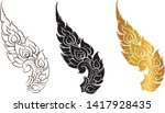 thai traditional wall paper ...   Shutterstock .eps vector #1417928435