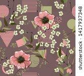 rustic seamless pattern on...   Shutterstock .eps vector #1417937348