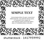 simple doodle art pattern with... | Shutterstock .eps vector #1417959992