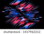 3d render hi tech metallic abstarct background. Red and blue gradient mechanism 3d illustration texture.