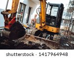 construction site details with... | Shutterstock . vector #1417964948