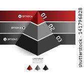 modern design template pyramid... | Shutterstock .eps vector #141796828