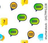 speech bubble icon seamless...