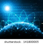 best internet concept of global ... | Shutterstock . vector #141800005