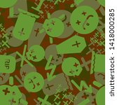 death military camouflage... | Shutterstock .eps vector #1418000285