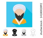vector design of imitator and... | Shutterstock .eps vector #1418002892