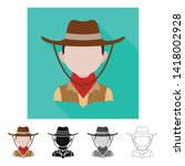 vector illustration of imitator ... | Shutterstock .eps vector #1418002928