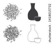 vector illustration of crop and ... | Shutterstock .eps vector #1418015732