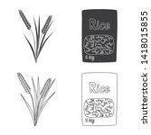 vector illustration of crop and ... | Shutterstock .eps vector #1418015855