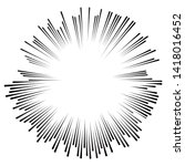 radial speed lines in circle... | Shutterstock .eps vector #1418016452